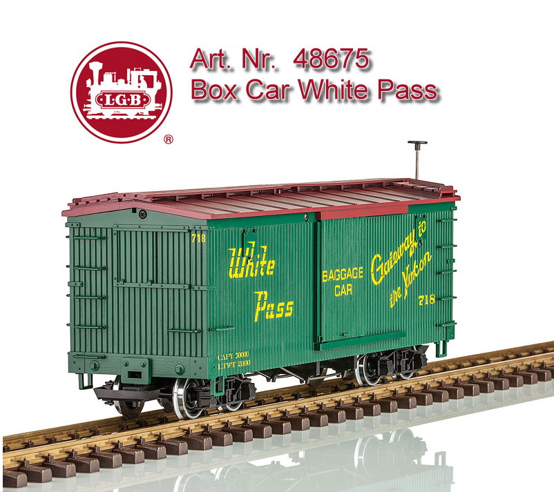 LGB Art. Nr. 48675 - Boxcar der White Pass and Youkon Railroad