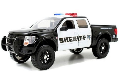 Jada - Ford F 150 SVT Raptor Police Car im Maßstab 1:24 - VK 23 EUR bei Cars and Co