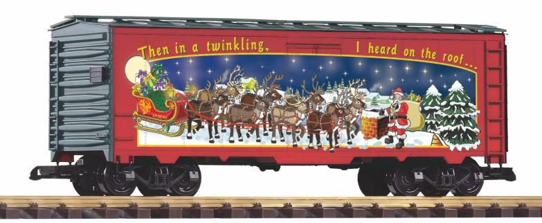 PIKO 2018 - Weihnachtswagen - Boxcar, US Güterwagen,Druckvariante des attraktiven Weihnachtswagens 2018. Aufdruck: Then in a twinkling. I heard on the roof...
