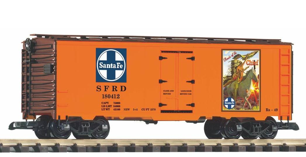 "PIKO Neuheit 2019 -Kühlwagen (Reefer) Santa Fe ""Warrior Chief"""
