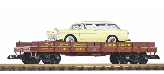 G Güterwagen - FlatCar beladen mit Chevy Nomad - Autotransportwagen - Art. Nr. 38769 - UP (Union Pacific)